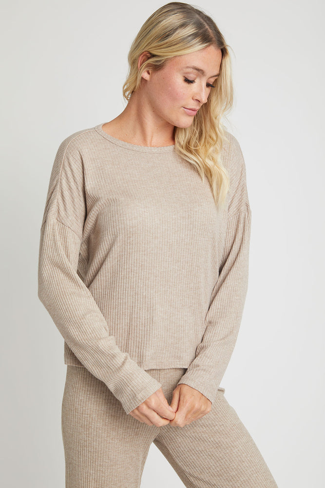 Z Supply Robbie Ribbed Long Sleeve top