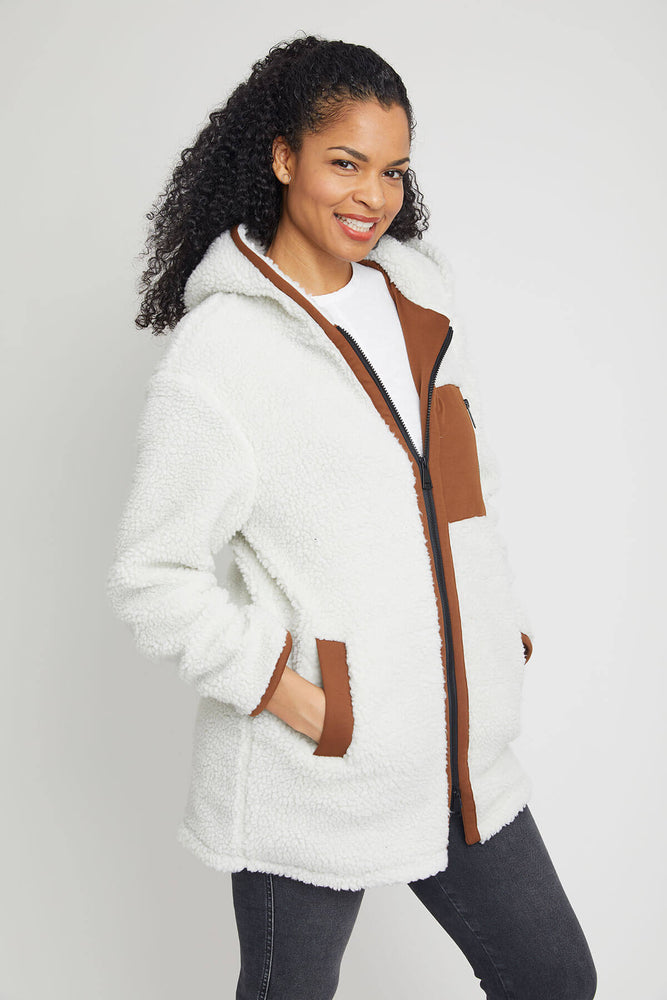 RD Style Fleece Long Coat (Available in Cream and Black)