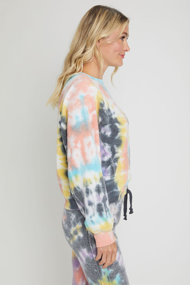 Load image into Gallery viewer, Vintage Havana Tie Dye Reverse Fleece Raglan Crewneck