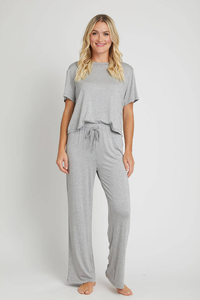 Honeydew Solid Grey All American Lounge Set