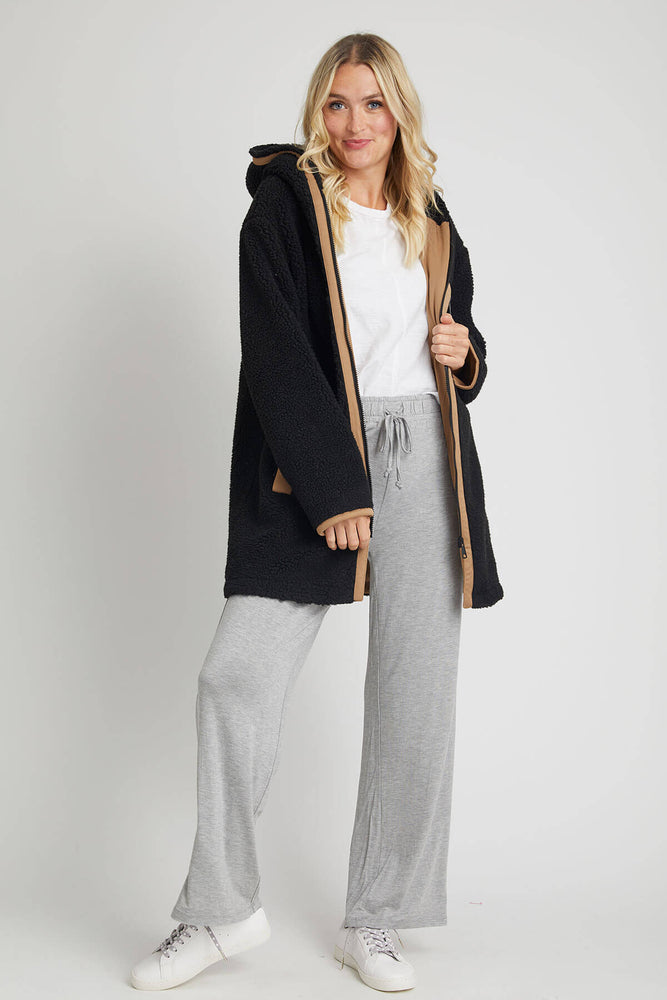 Load image into Gallery viewer, RD Style Fleece Long Coat (Available in Cream and Black)
