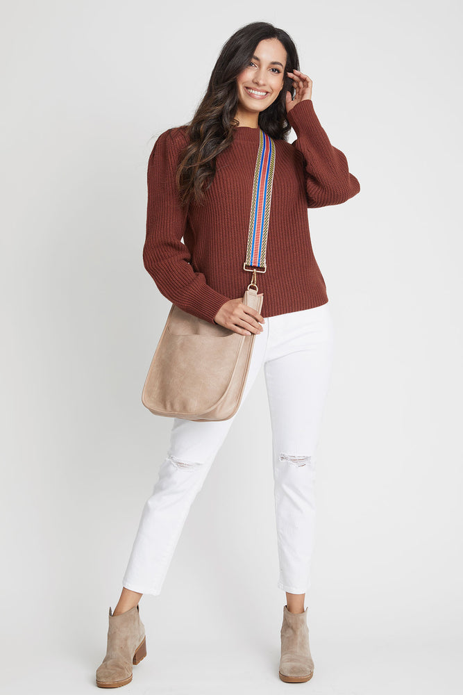 Vegan Messenger Bag (available in Blush, Stone & Chocolate)- STRAP NOT INCLUDED