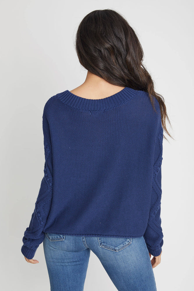 525 America Mixed Stitch Bobble Pullover Sweater