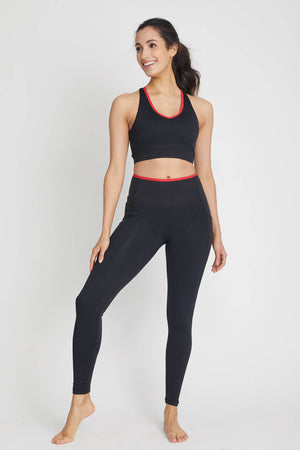 Mono B Contrast Trim Sports Bra