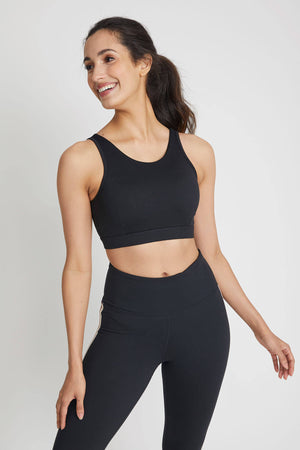 Mono B Triple Stripe Sports Bra