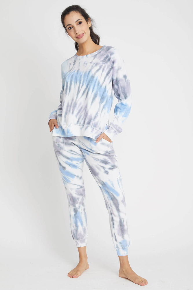 Load image into Gallery viewer, Vintage Havana Seaside Tie Dye Jogger