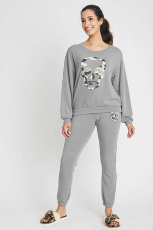 Load image into Gallery viewer, Vintage Havana Camo Skull Crewneck Sweatshirt