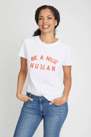 Load image into Gallery viewer, Suburban Riot Be A Nice Human Tee