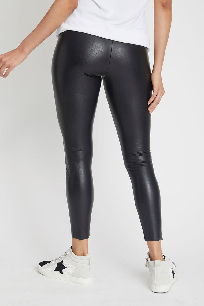 Load image into Gallery viewer, Vintage Havana Faux Leather Leggings