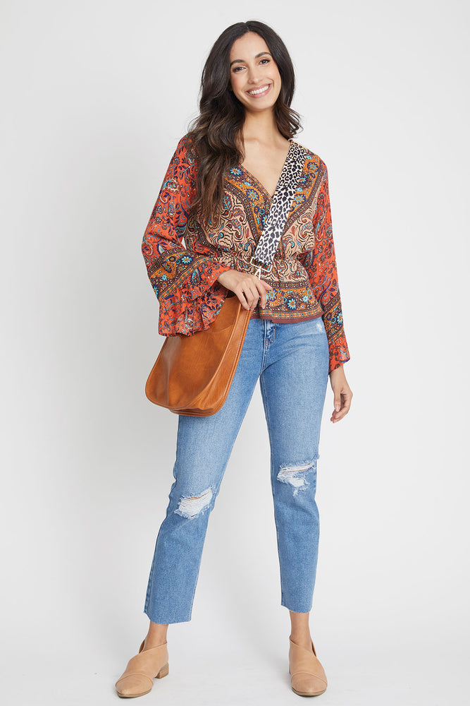 Load image into Gallery viewer, Free People Rosalie Wrap Top