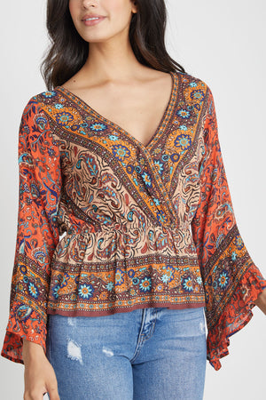 Free People Rosalie Wrap Top