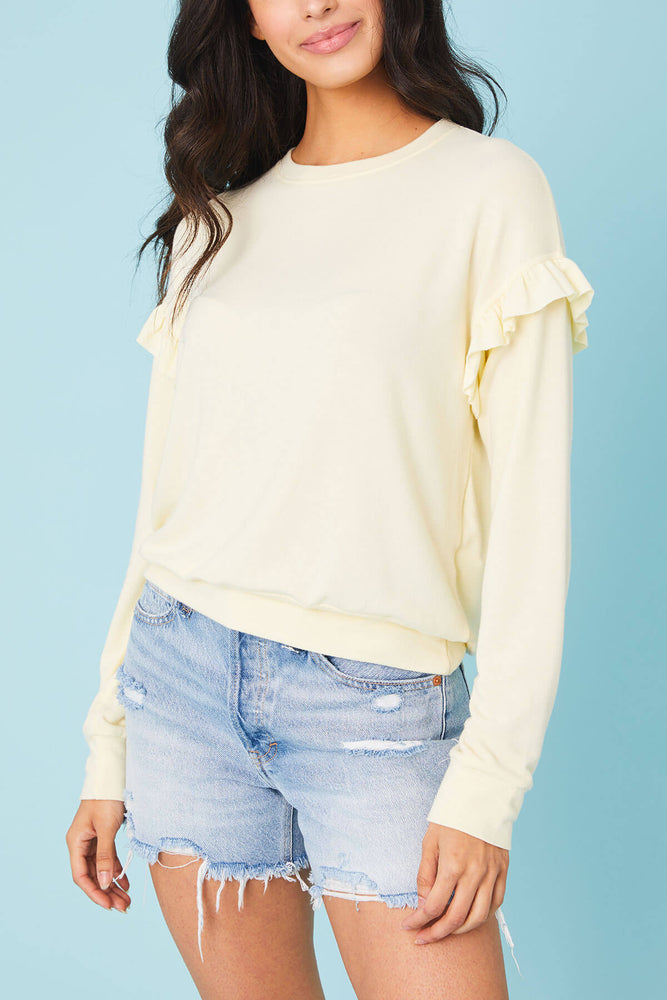 Six Fifty Ruffle Long Sleeve Top