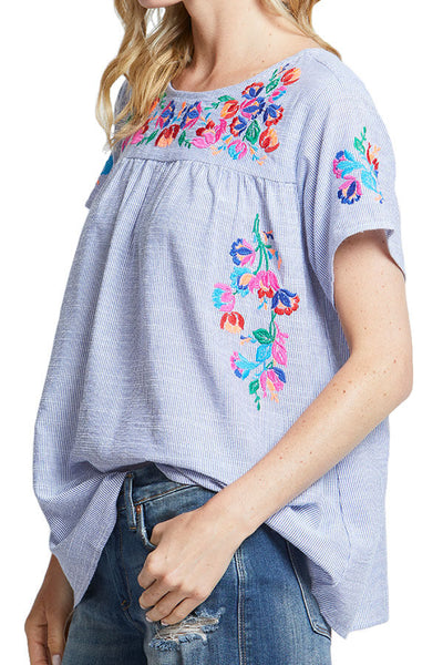 See and Be Seen Embroidered Top