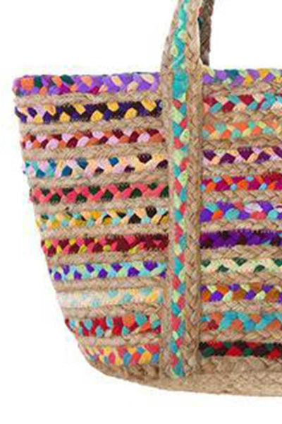 Shiraleah Woven Multi Color Tote Bag