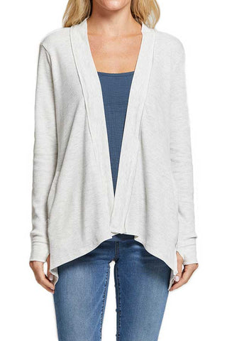 Six Fifty Thermal Grey Drape Cardigan