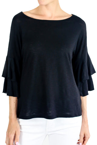 Six Fifty Ruffle Sleeve Top