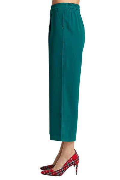 Skies Are Blue Wide Leg Green Pants