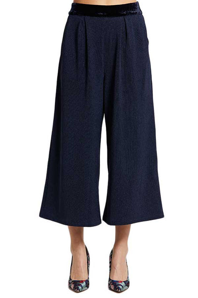 Skies Are Blue Wide Leg Navy Pants