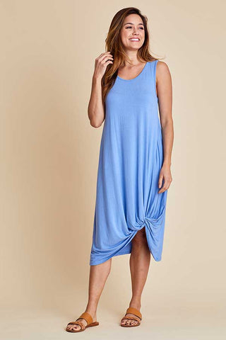 Sleeveless Knot Front Tank Coverup