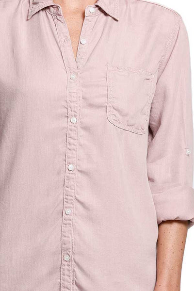 Sneak Peak Tencel Button Down Shirt (available in blush and white)