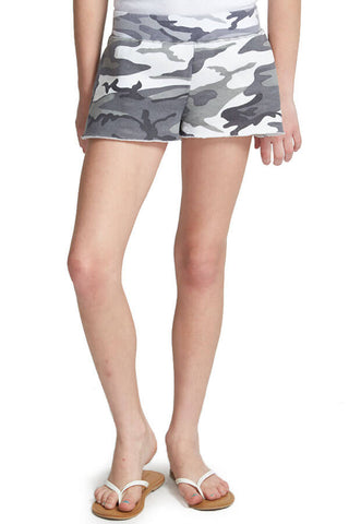 So Nikki Kids Grey Camo Shorts