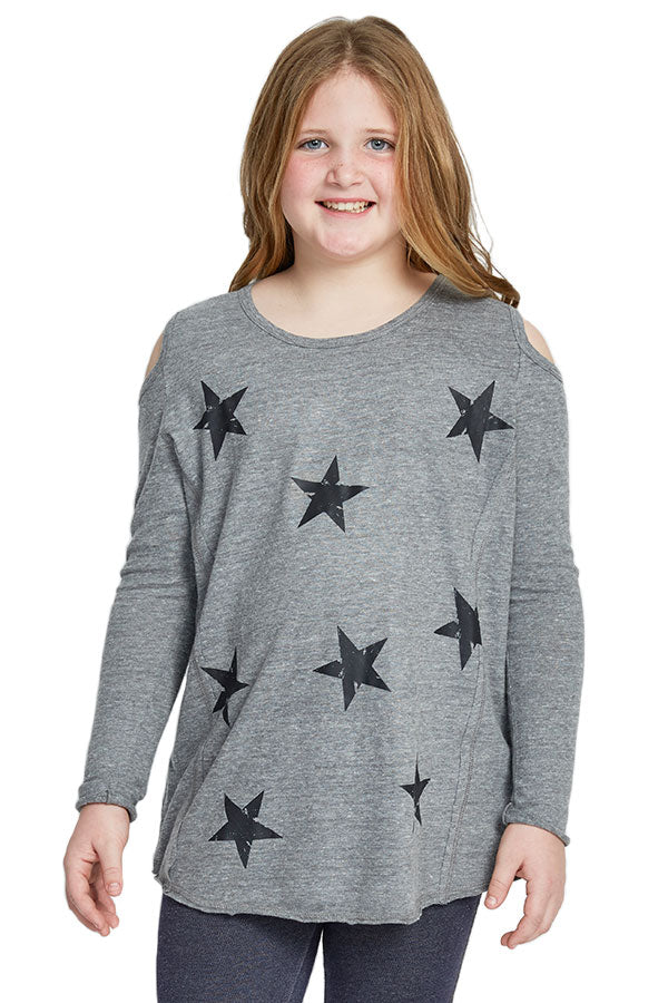 So Nikki Stars Cold Shoulder Tee