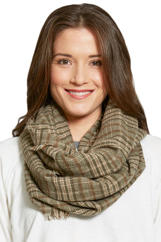 Look By M Vintage Plaid Infinity Scarf