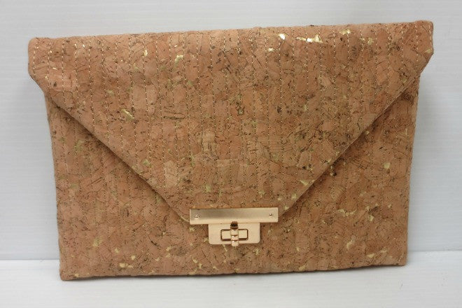 Sondra Roberts Cork Envelope Clutch