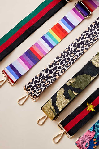 Bag Strap (Available in Camo, Leopard, Rainbow, Stripe, Embroidered Bee & Floral)