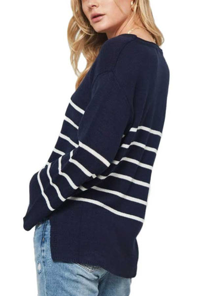 Promesa Striped Bell Sleeve Sweater