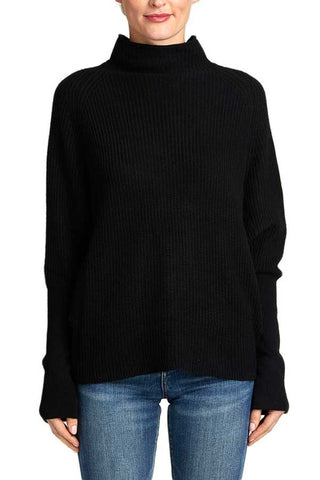 Sugarlips Mockneck Dolman Sleeve Sweater