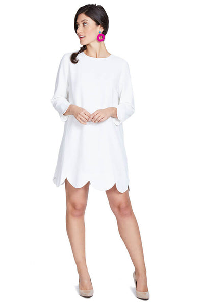 Sugarlips Scalloped White Dress