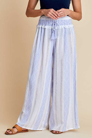 Surf Gypsy Woven Stripe Wide Leg Pant