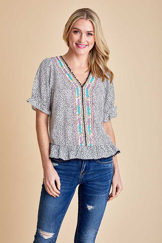 THML Polka Dot Multi Printed Top