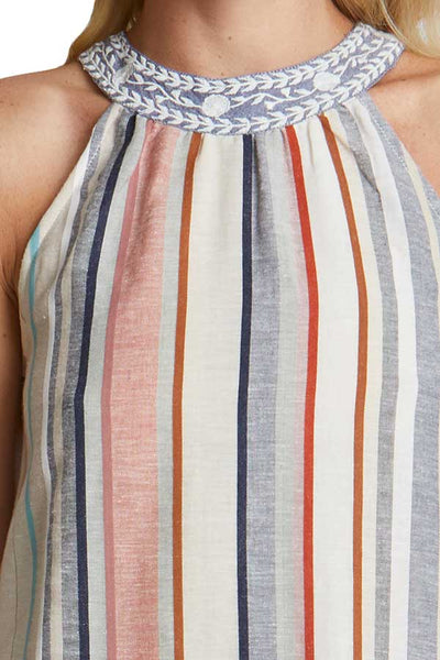 THML Striped Halter Dress