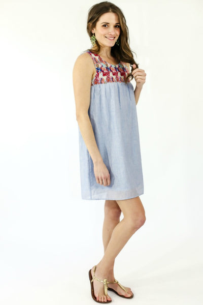 THML Embroidered Sun Dress