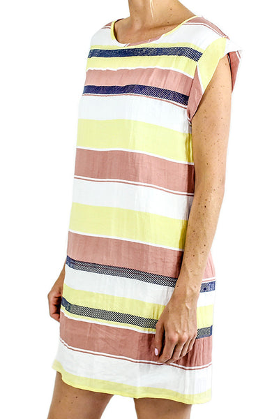 THML Striped Capsleeve Dress