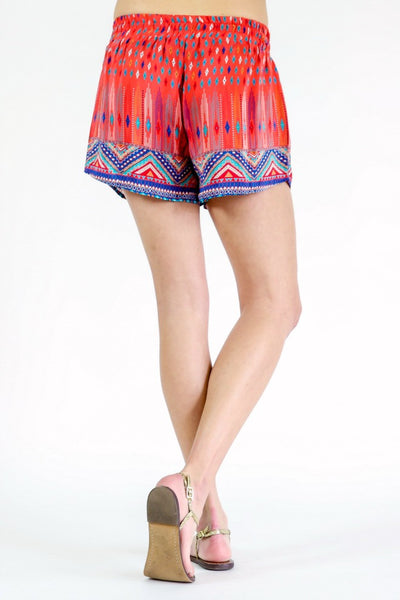 Tolani Silk Printed Drawstring Shorts