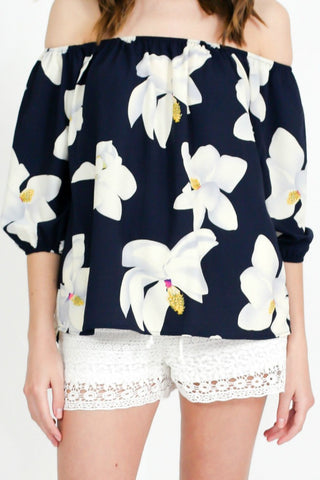 OVI Off The Shoulder Floral Top