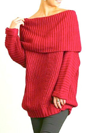 Umgee Off-The-Shoulder Cozy Sweater