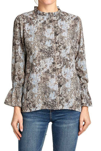 Veronica M Snakeskin Printed Top