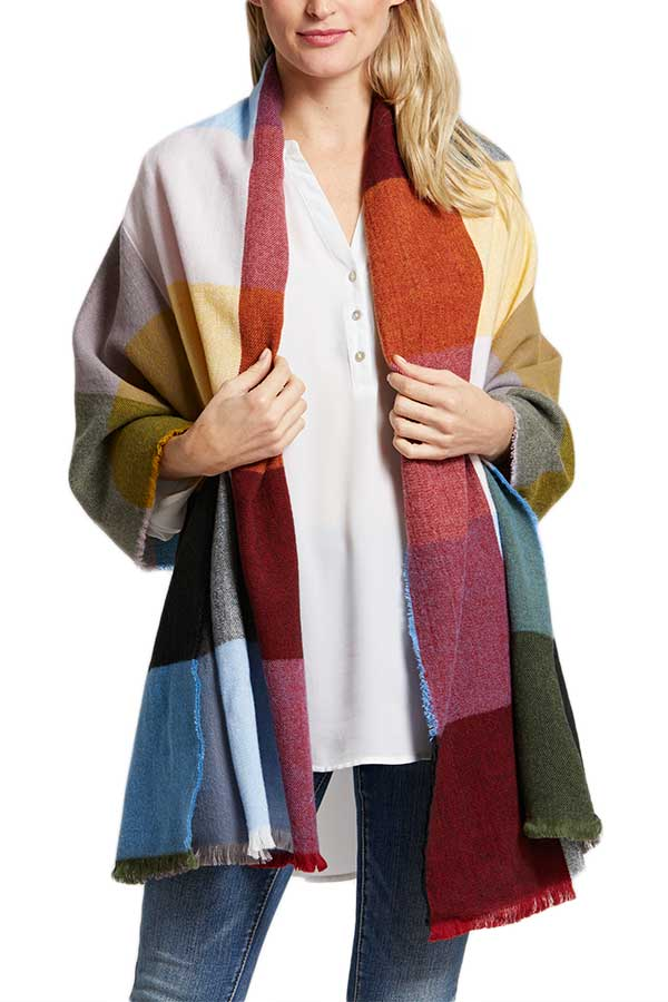 Vibrant Colorblock Scarf/Wrap