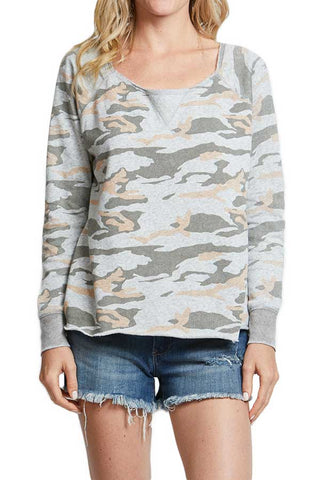 Vintage Havana Blush/Grey Camo Back Zip Sweatshirt