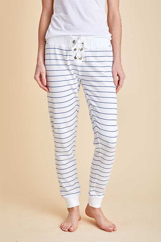Vintage Havana Striped Lace up Jogger