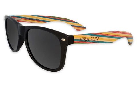 Vira Sun Matte Black with Multi Color Skateboard Arms