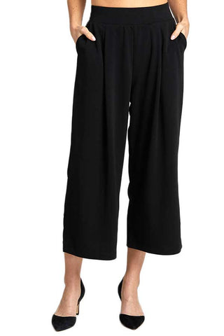 Wishlist Cropped Black Wide Leg Pants