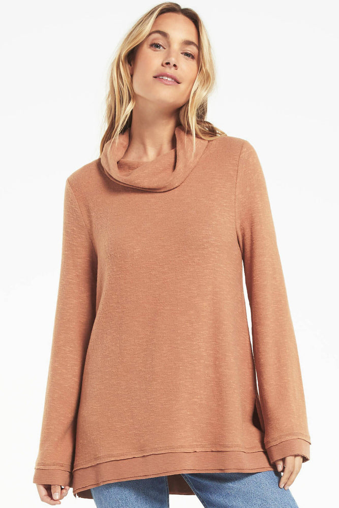 Z Supply Ali Cowl Slub Sweater