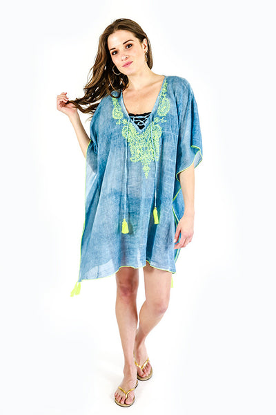 Z&L Chambray Embroidered Coverup