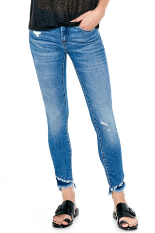 Blank NYC Distressed App Happy Ankle Jean