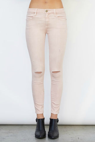 Blank NYC Don't Blink Pink Cropped Skinny Jeans